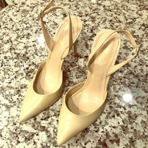 Guess cream colored sling backs- worn once!